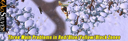 Three Main Problems in Red Blue Yellow Black Zones